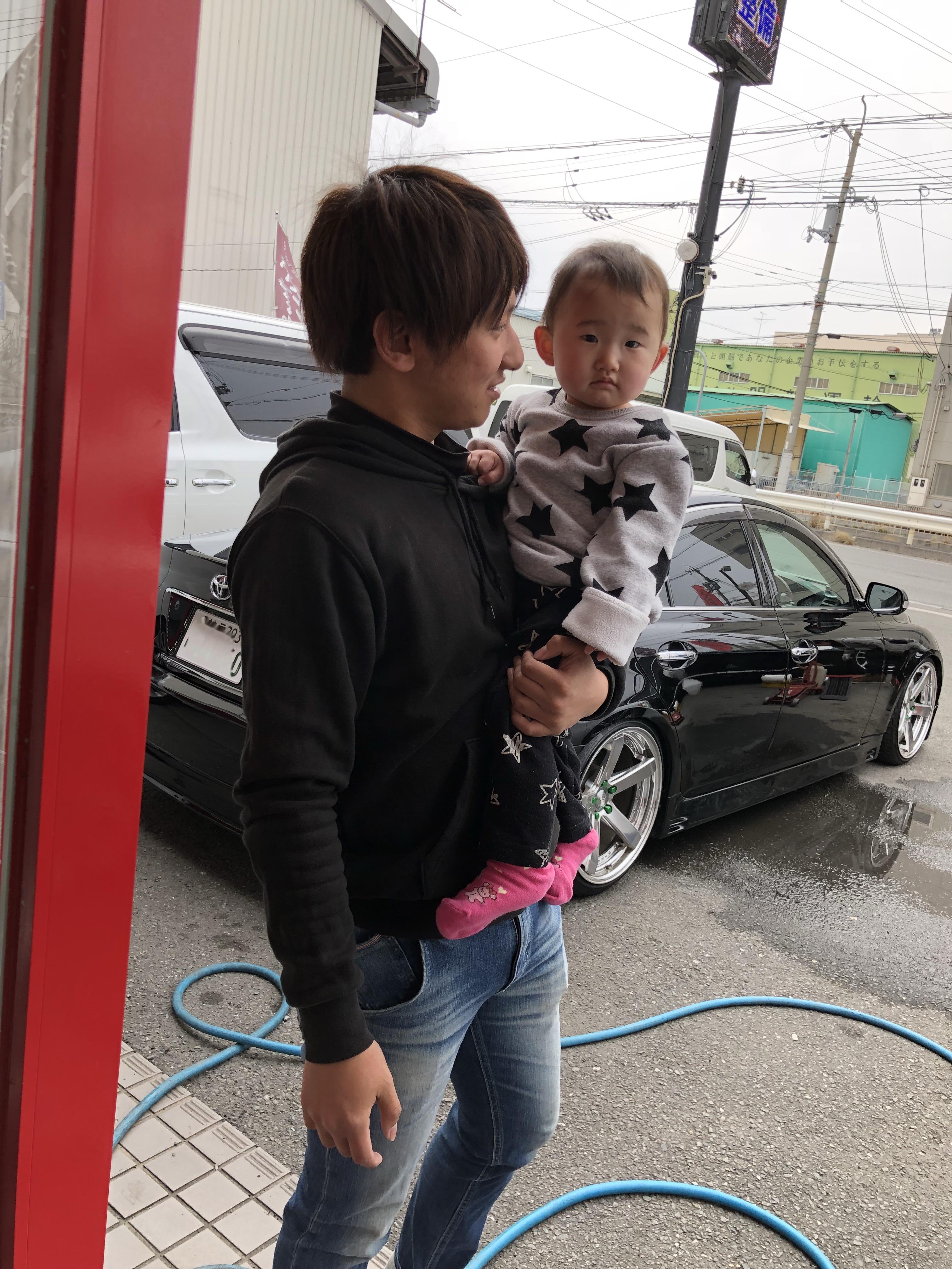 ★3/7 ガレージサクセス摂津本店★ T君と赤ちゃんとマークX