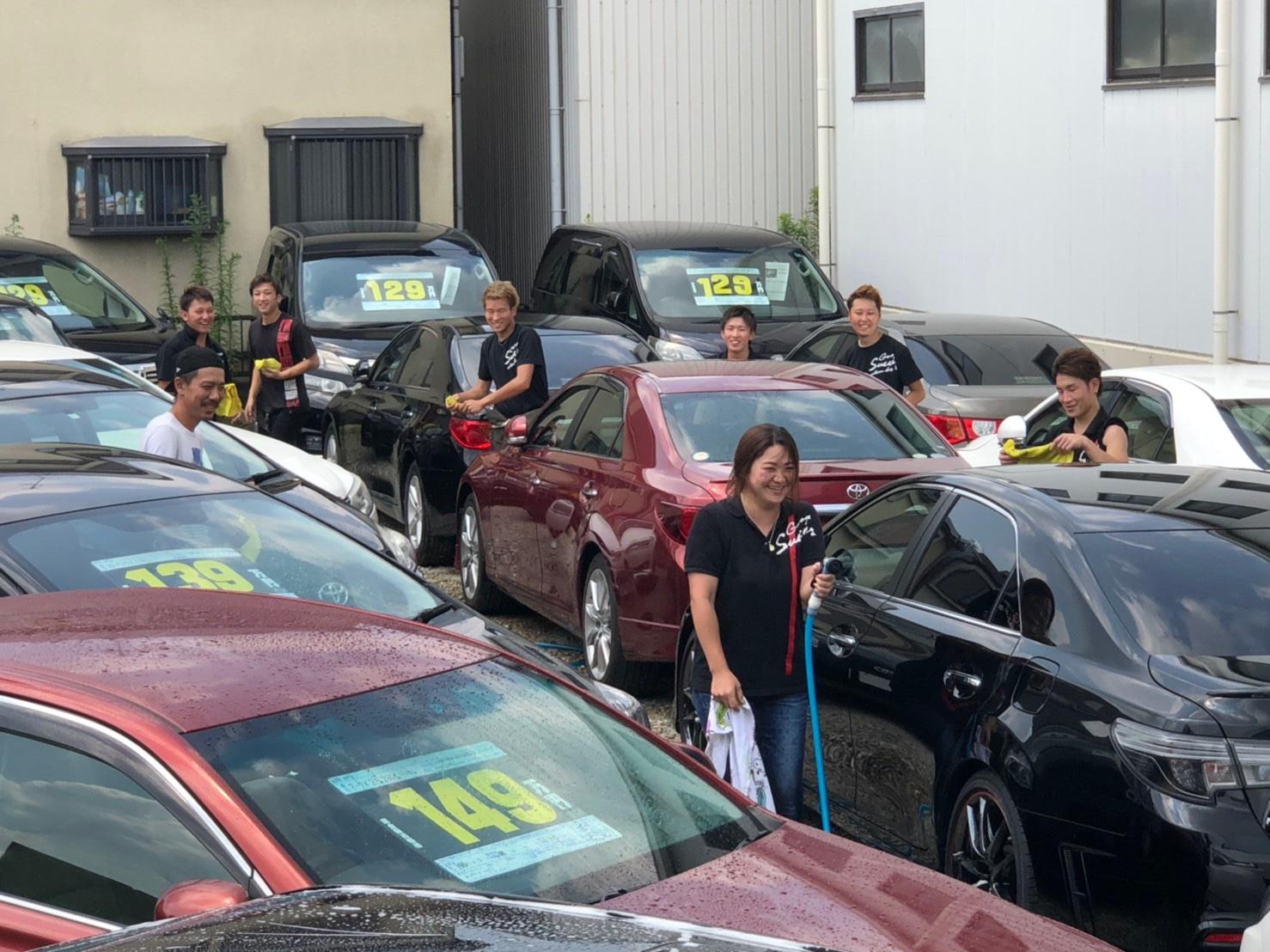 日本最大級マークX専門店★ガレージサクセス☆今日は、社員のみんなで一緒に洗車大会しました!!爆笑 新品WORK TEIN車高調